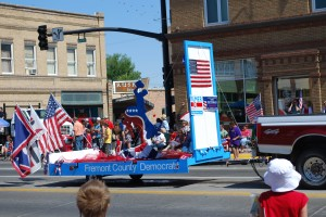 The Fremont County Democratic Party July 4th float.