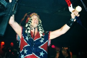 The Nuge-- sacrilegious headdress, confederate flag shirt and AR-poster boy for the Wyoming GOP!
